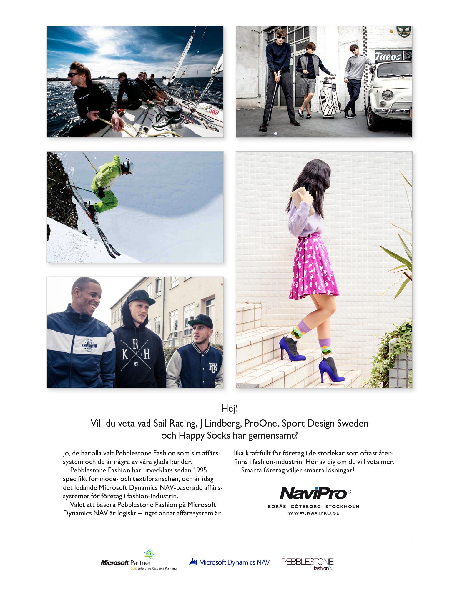 Annons för NaviPro