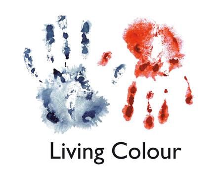 Kampanjlogotyp för mässan Living Colour
