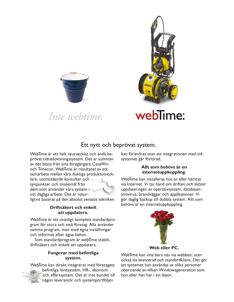 Annons för webTime/Timeservices