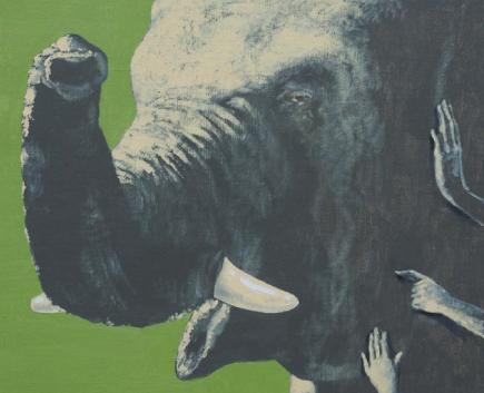 """Bild ur boken """"Sigge, Sköldis och den mångfaldiga elefanten"""""""