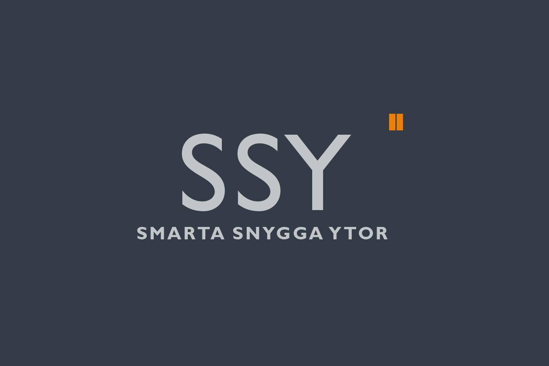 """Produktlogotyp """"SSY, Smarta Snygga Ytor"""" för Hissdesign"""