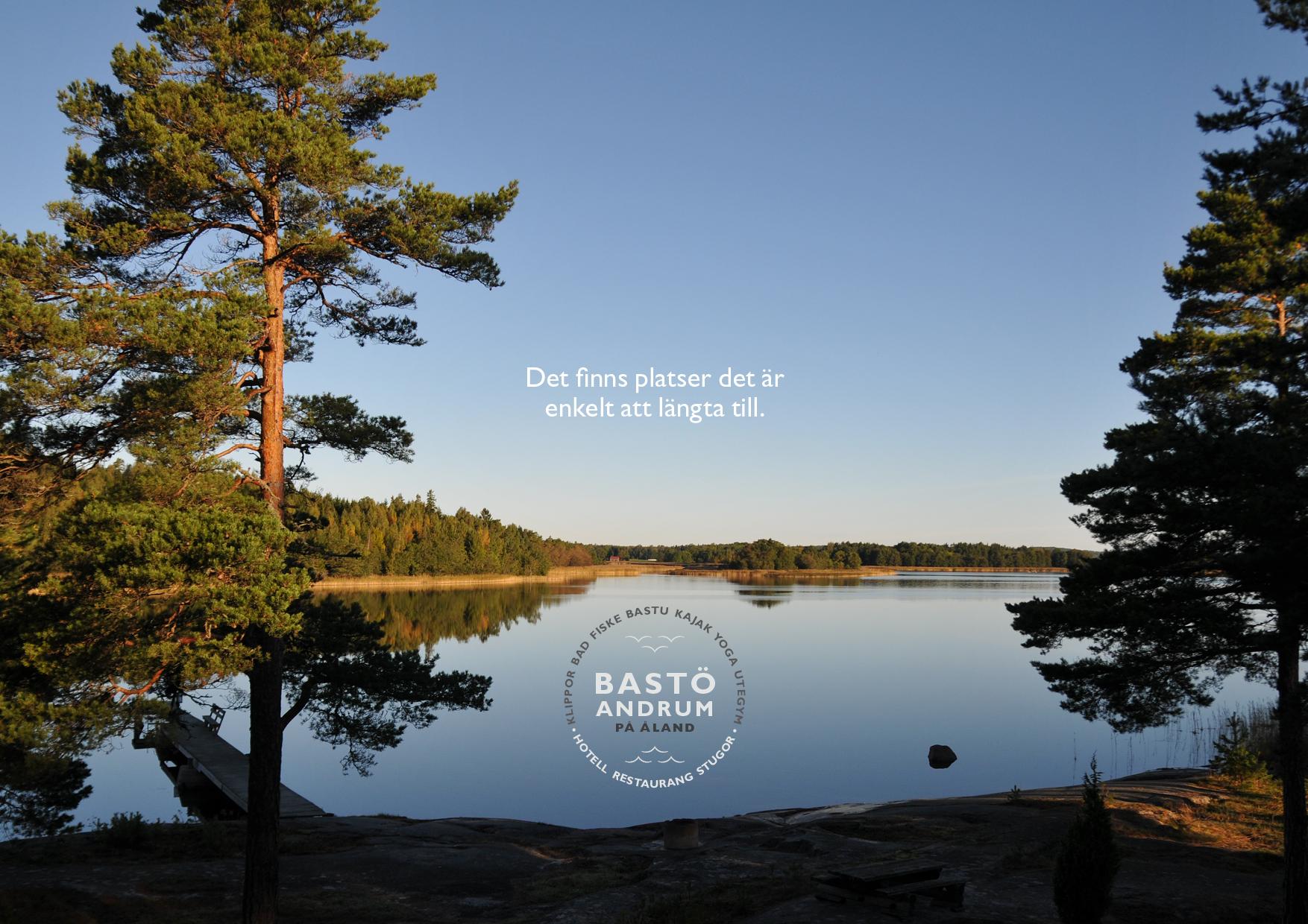 """Broschyren """"Det finns platser det är enkelt att längta till"""" för Bastö Andrum"""
