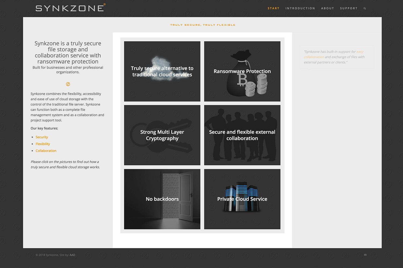 Hemsida för Synkzone
