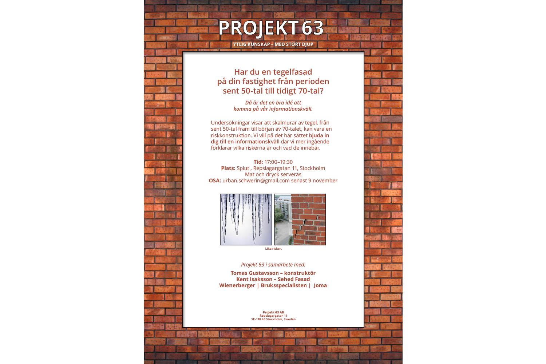 Inbjudan för Projekt 63