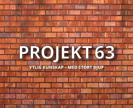 Logotyp och byline för Projekt 63