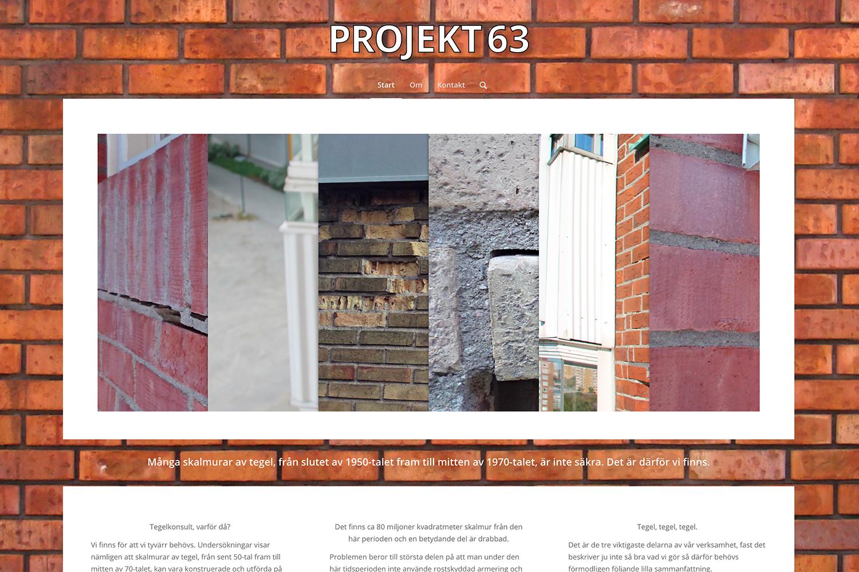 Hemsida för Projekt 63