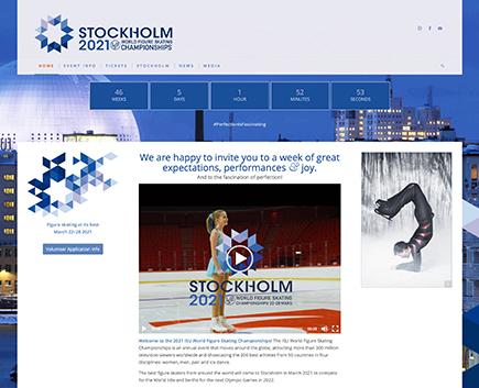 Hemsida för Stockholm2021